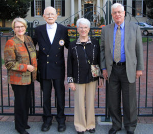 (l-r: Barbara Brandhorst, Gordon Murchie, Anita Murchie, Carl Brandhorst) Former ASWA Presidents Gordon Murchie and Carl Brandhorst outside the Virginia Governor's Cup Reception 2015.